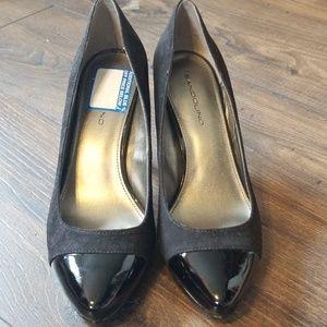 Black heels - suede